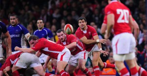 Wales&#039; Mike Philips takes on Samoa
