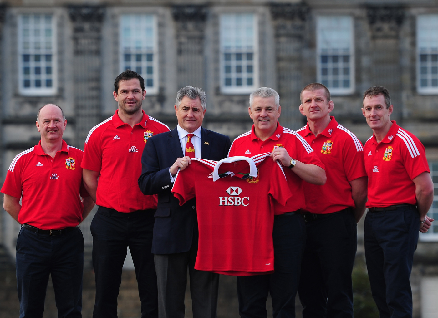 Lions Coaches Warren Gatland, Andy Farrell, Graham Rowntree, Rob Howley & Tour Manager Andy Irvine